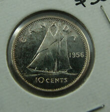1956 Canada 10 cents proof like cameo