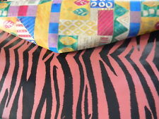 REVERSIBLE TIGER PRINT / KWANZAA  WRAPPING PAPER / GIFT WRAP 36 SQ FT