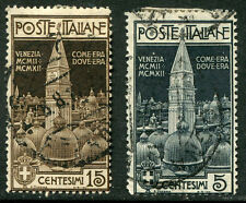 Italy # 124 - 125 F-Vf Used Set - Re-Erection Campanile At Venice - S5654