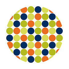 Wall Pops Lots of Dots Blue Circles Stickers Decals WPD90239