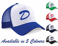 Clementine's Hat - Printed Baseball Cap Trucker-Letter D- Blue, Green, Navy, Red