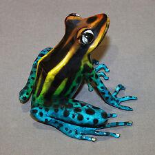 "Bronze Frog Statue Figurine Amphibian Art ""Darcy"" Signed Certificate Of Authenti"
