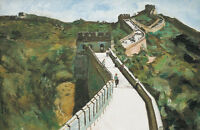 Dream-art Oil painting landscape Wonders of the World Great Wall of China canvas