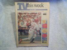 2000 TV THIS WEEK Mark McGwire St.Louis Cardinal baseball all star game tv week