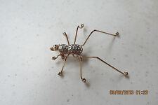 Huge SPIDER Brooch / Pin   Big Spider!!  Lots of Sparkling crystals!!