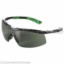 1 x Pair UNIVET 5X6 G15 SMOKE Lens Safety Spectacles Specs Glasses Eyewear UV400