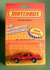 Vintage 1987 Matchbox #59 FORD T-Bird Thunderbird Turbo Coupe New Model NIP