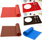 Useful Silicone Rectang Tableware Table Protector Placemat Baking Rolling Mat