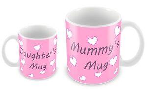 Mummy and Daughter Personalised mug 11oz mummy mug 6oz daughter mug. Any name