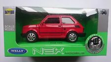 """WELLY FIAT 126P """"MALUCH"""" RED 1:34 POLISH CLASSICS DIE CAST METAL MODEL"""
