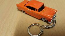 Diecast 55 Chevy Orange Toy Car Keyring Keychain