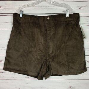 Vintage Dark Brown Corduroy Classics OP Style shorts size 38-42