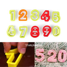 10pcs Numbers Biscuit Pastry Cookie Cutter Fondant Cake Decor Mold Mold Tool NEW
