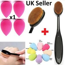 Pro Oval Brush Makeup x1 Beauty Sponge Blender Contour Foundation Cream Powder