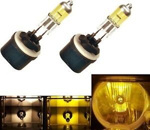 Halogen 880 27W 3000K Yellow Two Bulbs Fog Light Plug Play Replacement Lamp Fit
