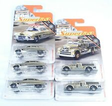 2019 Matchbox 50th Anniversary Superfast Gold Hudson Seagrave Lot of 5