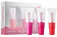 Kopari Coconut Kiss Kit 3 Tinted Lip Gloss Mai Tai Hibiskiss Pinkini New 1006