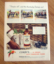 1948 Corby's Whiskey Ad Kentucky Derby 1875 1897 1930 1948