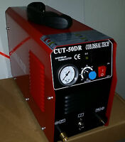 Plasma Cutter CUT50DR Digital Inverter 110/220V and 60 Consumables Model 2018new