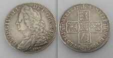 BELLA da collezione Argento Re Giorgio II-LIMA-Half Crown-Moneta da 1746 Date