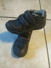 Toddler Boys Stride Rite Brown Leather Shoes Size 10.5M