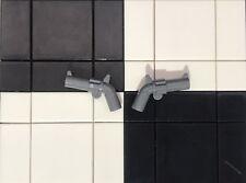 Lego Minifigure Revolver Pistol Gun X2 / Cowboy / Soldiers / Pirates / Weapon