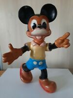 Antique Old Vintage Walt Disney Mickey Mouse Large Rubber Toy RARE EXAMPLE !