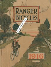 Rare Antique 1916 Ranger Bicycles Original Catalog Book Mead Cycle Co Scarce !!