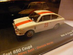 RES10E voiture 1/43 IXO altaya SEAT de Rallye : SEAT 850 coupé 1967 Sutil Oviedo