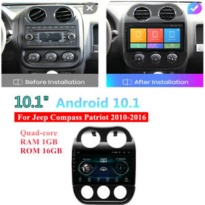 10.1'' Android 10.1 For Jeep Compass Patriot 2010-16 Stereo Radio Head Unit GPS