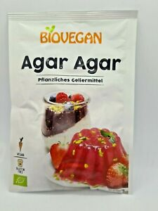 Biovegan Vegan Bio  Organic Agar Agar Powder Gluten Free 30g Vegan Gelatine