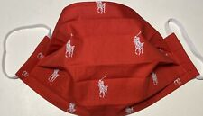 Brand New Handmade POLO Cotton Face Mask - Red.