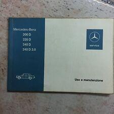 MERCEDES Manuale di istruzioni 1975 tratto-Otto/8 manuale 200 220 240 W 115 BA-