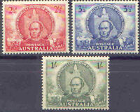 Australia 1946 SIR THOMAS MITCHELL (3) - Explorer/Map Unhinged Mint, SG 216-8