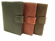 Genuine Leather Concertina Credit Card Holder Purse Pouch Wallet