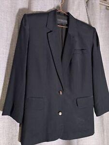 August Silk Petites Jacket - 12 - Black - Lined