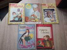 5x Magazine Revue FILLETTE JEUNE FILLE numeros SPECIAUX 1957-1962