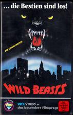"""VHS - FSK 18 - """" Wild BEASTS """" (1987) - John Aldrich - Lorraine De Selle -- VPS"""