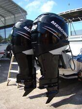 """Pair of 2005 Mercury 250 HP Verado 4-Stroke XXL 30"""" Outboard Motors"""