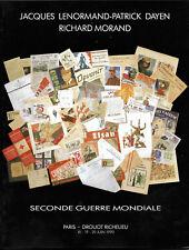 Documents de la seconde Guerre Mondiale - Catalogue de Vente -Drouot 1990