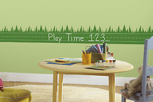 Chalkboard Peel and Stick Wall Border Green LEARNING LAWN Educational Stickers
