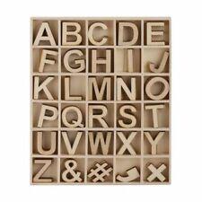 162Pce Wood Wooden Alphabet Letters Arts Crafts Scrapbook Wedding Party 2.7Cm