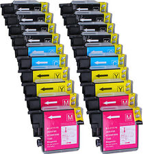 20 NON-OEM INK BROTHER LC-61 DCP-J125 MFC-250C MFC-255CW MFC-290C MFC-295CN