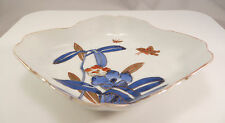 Japanese Arita Imari Porcelain Bowl Flowers Butterflies Ceramic Japan A