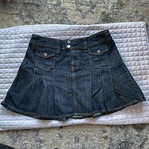 Vintage Mossimo Pleated Denim Mini Skirt Size 3