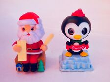 Solar Powered Dancing Santa With Toys List Greeting Penguin