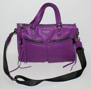 Violet Aimee Kestenberg Road Trip Leather Multi Pocket Satchel Bag, BNWOT
