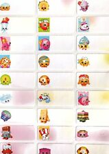 Cute Shopkins Labels, name labels, Waterproof, dishwasher safe, custom, Daycare,
