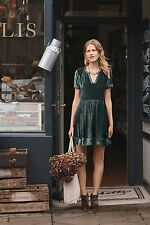 NEW Anthropologie MaeveWomen's Blue Velvet Tunic Dress XS Retails  $138