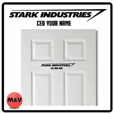 Stark Industries Iron man, avengers porte autocollant PDG, Marvel
